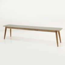 Edition Aluminum and Teak Outdoor Bench-0