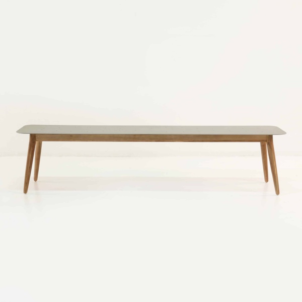 Edition Aluminum and Teak Outdoor Bench-1364