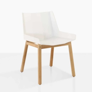 elements white side dining chair