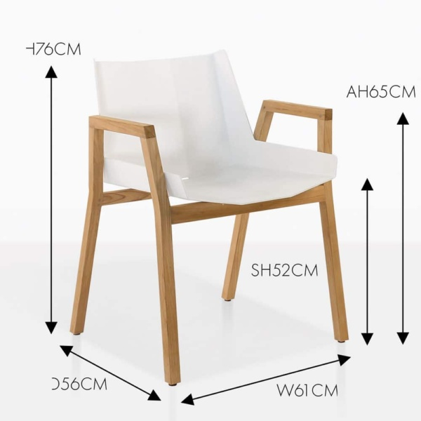 elements white angle chair