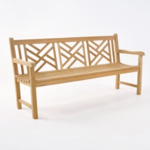 Elizabeth Teak 3-Seater Outdoor Bench-0