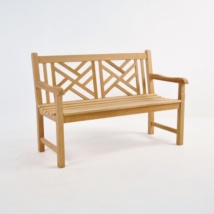 Elizabeth Teak 2-Seater Outdoor Bench-0
