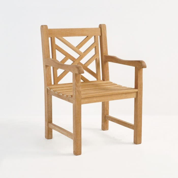 elizabeth teak arm chair