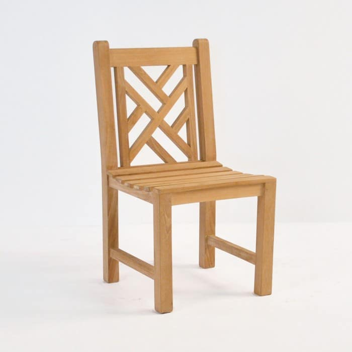 elizabeth teak side chair