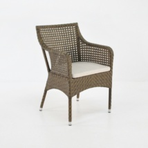 ellen wicker arm chair in sand colour