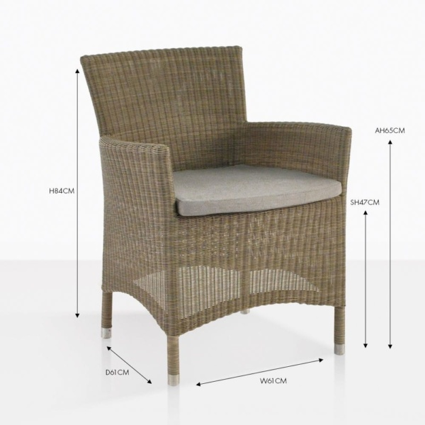 enna wicker dining chair