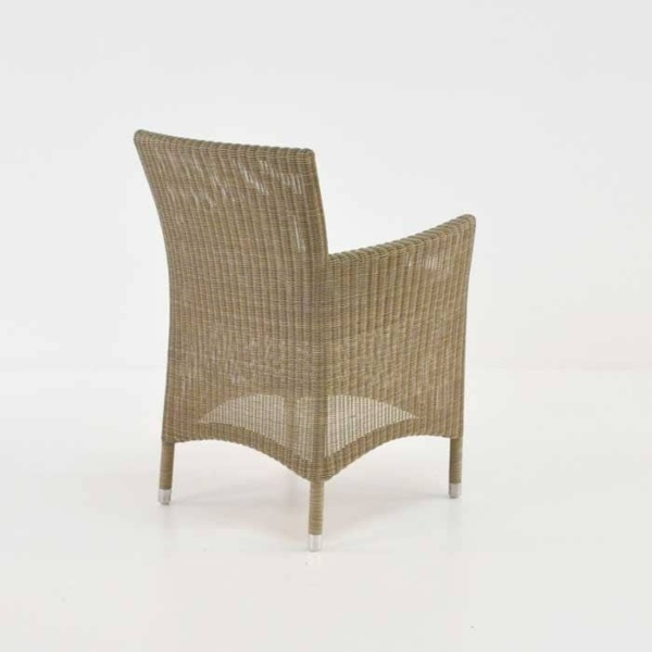 enna wicker outdoor dining chair back view