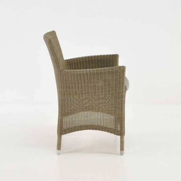 enna wicker outdoor dining chair side view