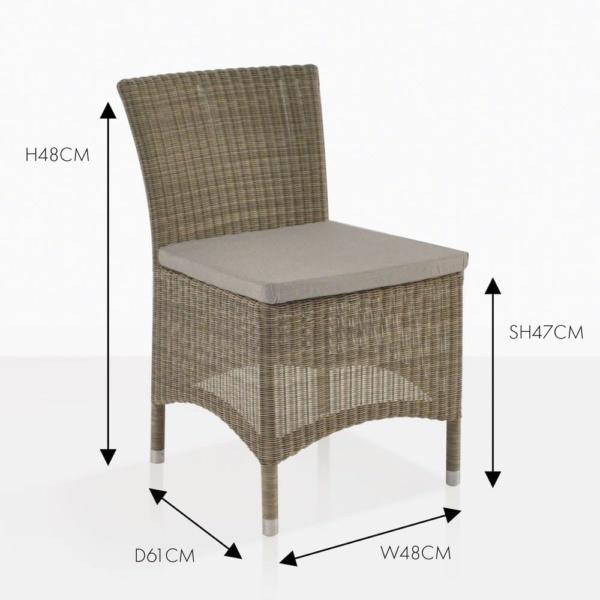 Enna wicker side dining chair