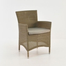 enna wicker outdoor dining chair angle view