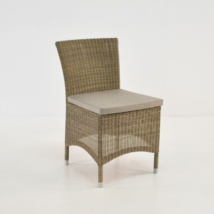 wicker outdoor dining side chair front view