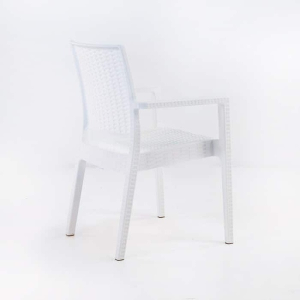 Event Cafe Dining Chair (White)-1254