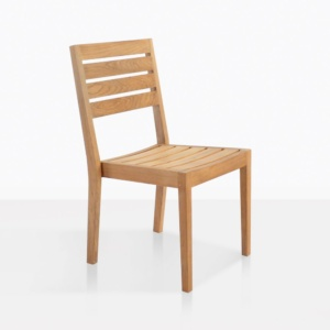 Fiesta Teak Dining Chair front angle view