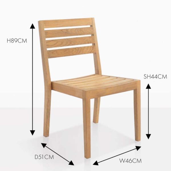 fiesta teak dining side chair