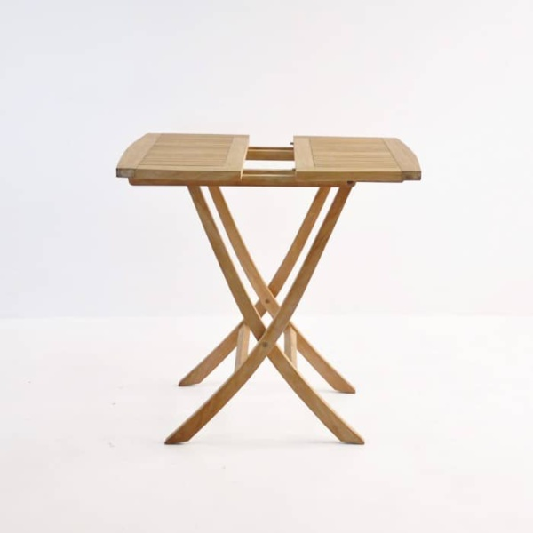 Square Teak Folding Bag Table (Dining)-1174