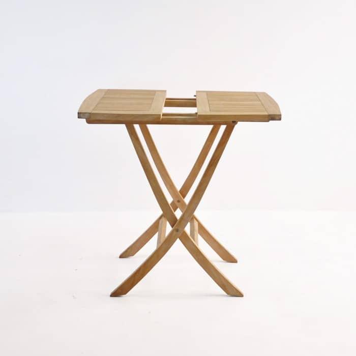 Square Teak Folding Bag Table (Dining)-1174