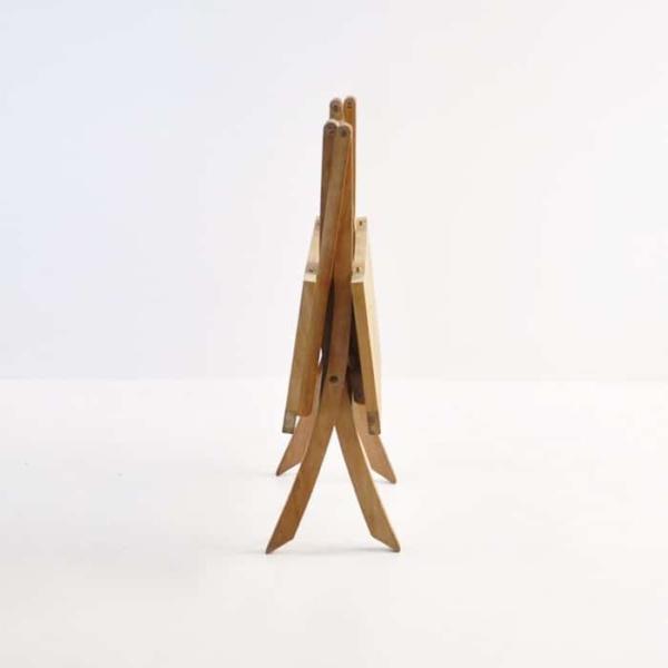 Square Teak Folding Bag Table (Dining)-1173