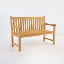 Garden Teak Outdoor Bench 2-Seater-0