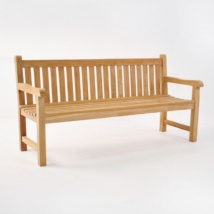 Garden Teak Outdoor Bench 3-Seater-0