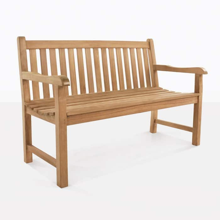 Hokku Designs Revionna Two Seat Bench With Storage: Garden Teak Outdoor Bench 2-Seater