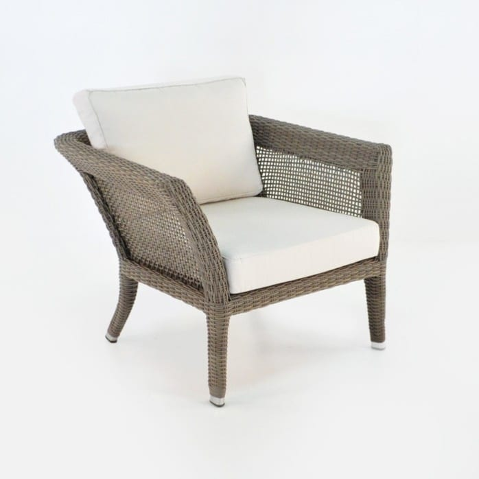 George Relaxing Wicker Arm Chair (Kubu)-0