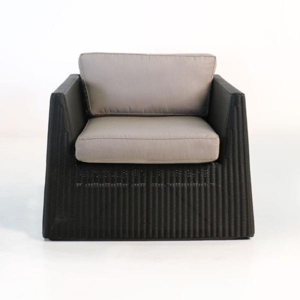 Giorgio Outdoor Wicker Club Chair (Black)-649