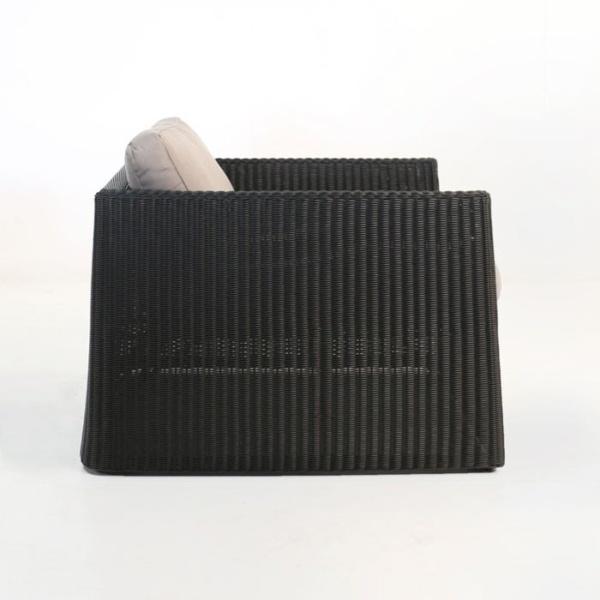 Giorgio Outdoor Wicker Club Chair (Black)-650