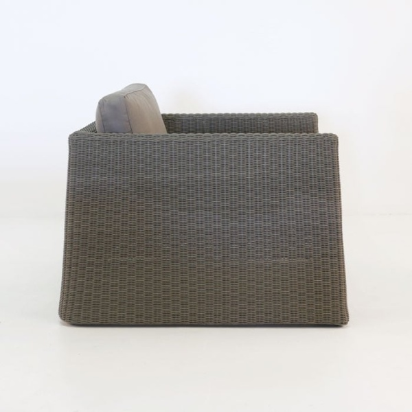 Giorgio Outdoor Wicker Club Chair Kubu side view