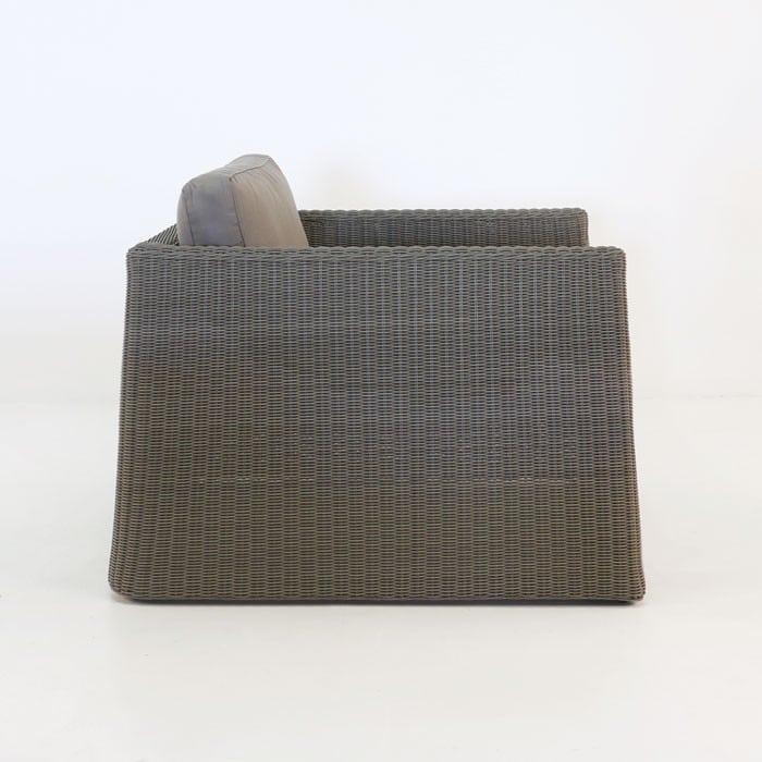 Giorgio Outdoor Wicker Club Chair Kubu side view