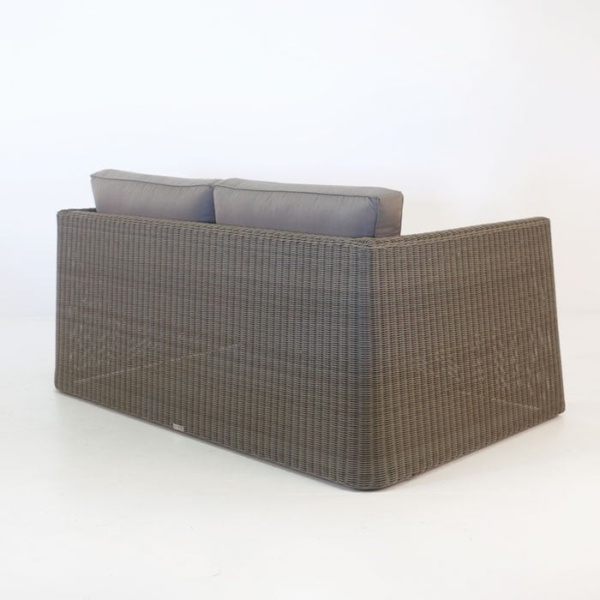 Giorgio Outdoor Wicker Loveseat Kubu back view