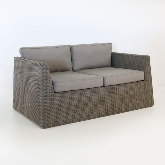 Giorgio Outdoor Wicker Loveseat Kubu angle view