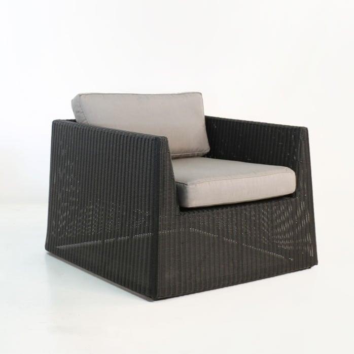 Giorgio Outdoor Wicker Club Chair (Black)-0