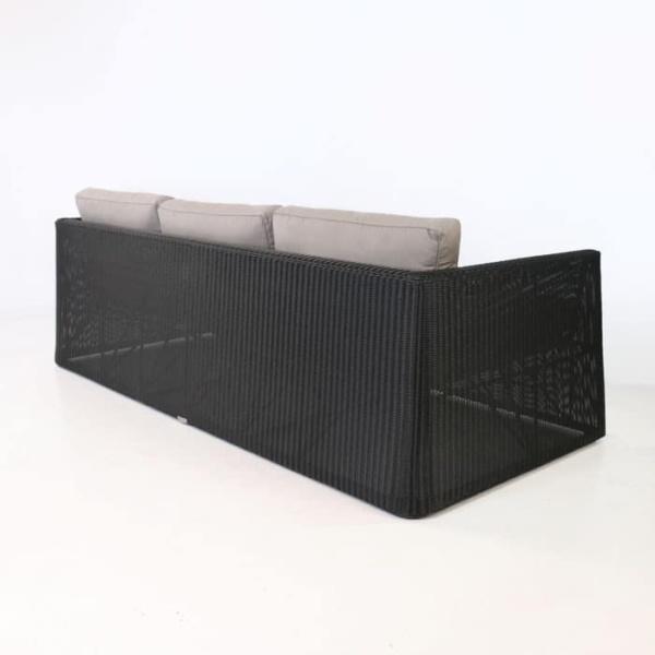 Giorgio Outdoor Wicker Sofa Black back view