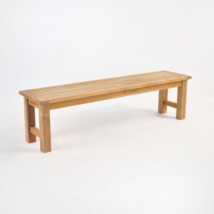 Hampton Teak Backless Outdoor Bench-0