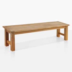 Hampton outdoor bench teak angle