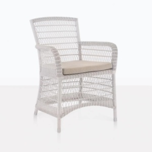 Hampton chalk arm wicker outdoor chair