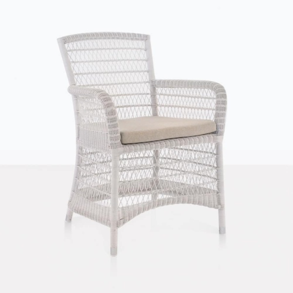 Hampton chalk arm wicker outdoor chair