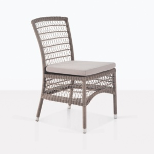 Hampton Light Brown Outdoor Wicker Dining Chair