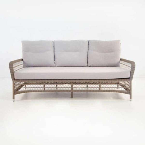 Hampton Outdoor Wicker Sofa (Pebble)-668