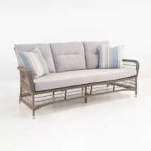 Hampton Outdoor Wicker Sofa (Pebble)-0