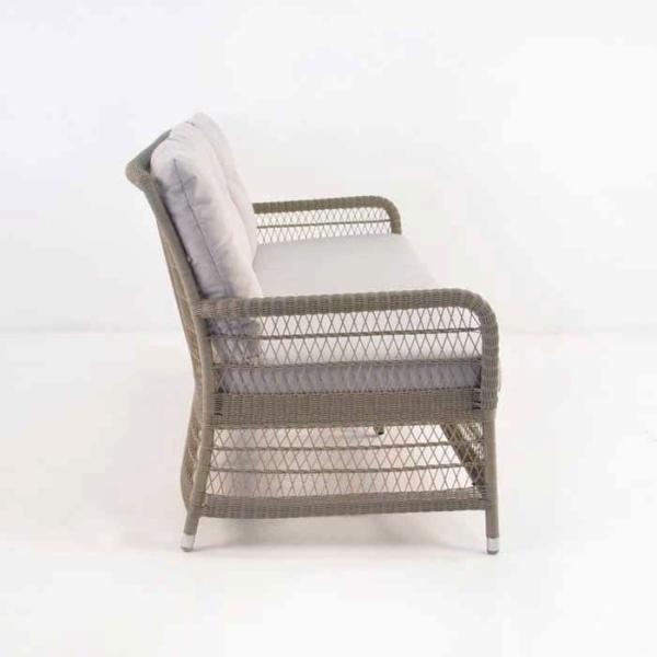 Hampton Outdoor Wicker Sofa (Pebble)-669