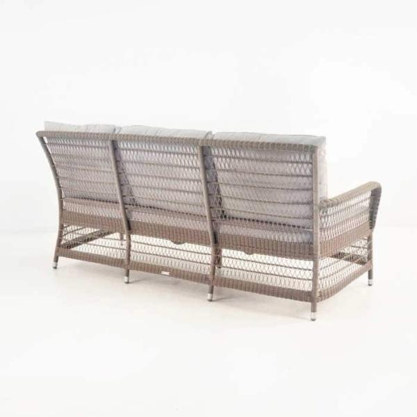 Hampton Outdoor Wicker Sofa (Pebble)-666