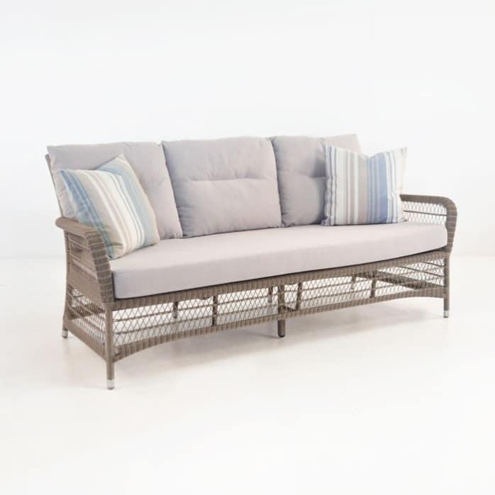 Hampton Outdoor Wicker Sofa (Pebble)-0