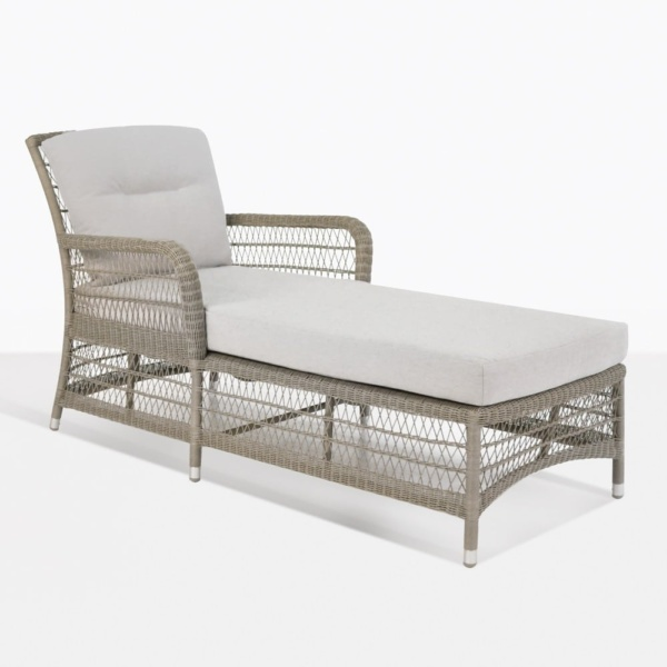 Hampton outdoor wicker sun lounger