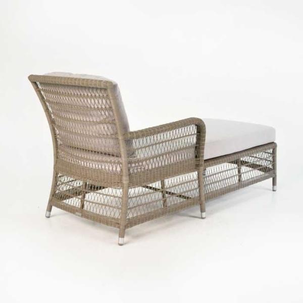 Hampton Outdoor Wicker Sun Lounger (Pebble)-940