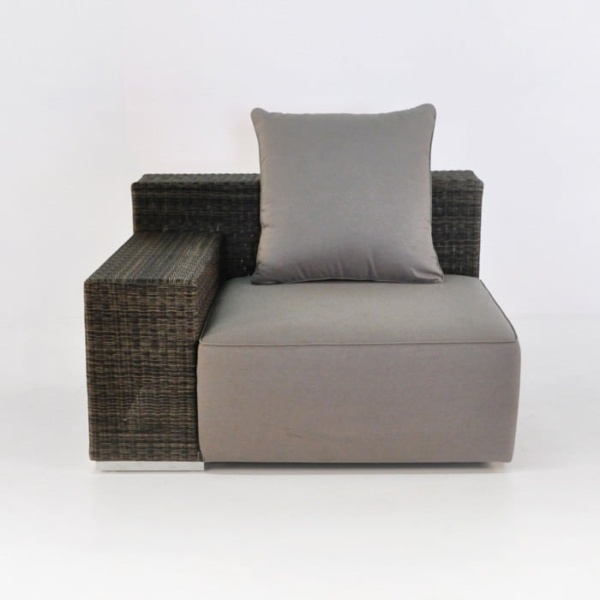 Hogan Outdoor Wicker Sectional (Right)-0