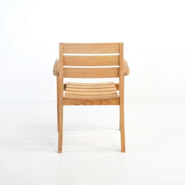 Horizon Teak Stacking Dining Arm Chair-458