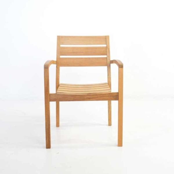 Horizon Teak Stacking Dining Arm Chair-457