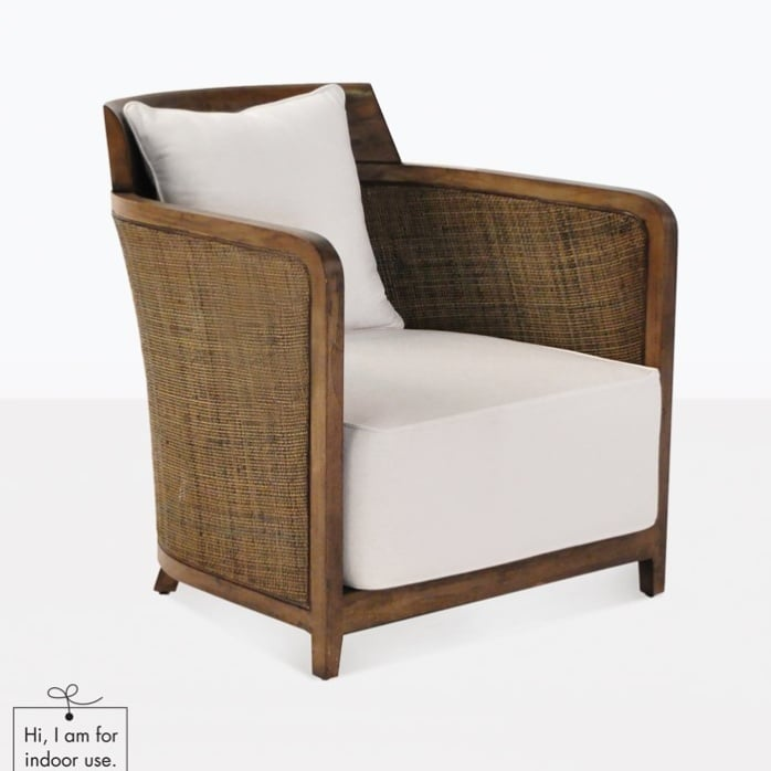 Hugo indoor wicker chair sheltered furniture design for Wicker and rattan indoor furniture