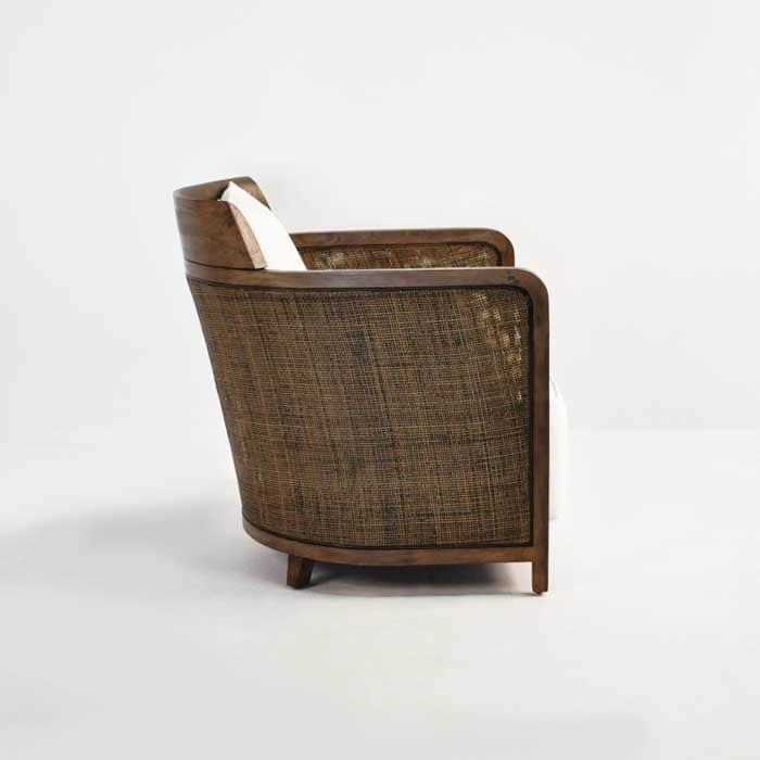 indoor wicker chair side view